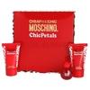 Фото Moschino - Cheap and Chic Chic Petals  - Gift Set - Подарочный набор для женщин - Туалетная вода 4.9 мл + Гель для душа 25 мл + Лосьон для тела 25 мл