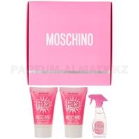 Скидка Moschino - Fresh Couture Pink - Gift Set - Подарочный набор для женщин - Туалетная вода 5 мл + Гель для душа 25 мл + Лосьон для тела 25 мл