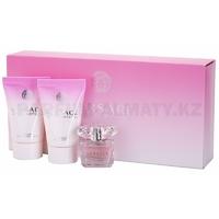 Скидка Versace - Bright Crystal - Gift Set - Подарочный набор для женщин - Туалетная вода 5 мл + Молочко для тела 25 мл + Гель для душа 25 мл