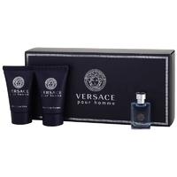 Скидка Versace - Pour Homme - Gift Set - Подарочный набор для мужчин - Туалетная вода 5 мл + Гель для душа 25 мл +  Бальзам после бритья 25 мл